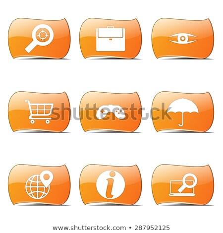 SEO Internet Sign Orange Vector ButtonIcon Design Set 10 Stock photo © rizwanali3d