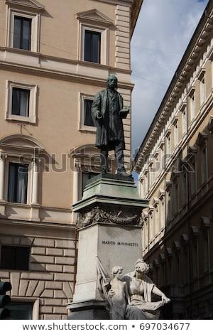 Statue Marco Minghetti in Corso Vittorio Emanuele II, Rome, Ital Stock photo © vladacanon