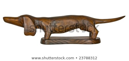 vintage wooden dachshund figurine Stock photo © RedDaxLuma