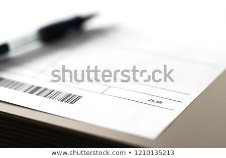 Lening barcode glas business bank informatie Stockfoto © fuzzbones0
