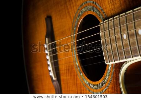 Classical Guitar Body Closeup Stock photo © make
