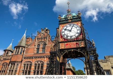 Passage horloge tour vertical vue entrée Photo stock © igabriela