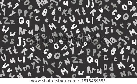 Hand gezeichnet Mischung Briefe dunkel jpg Stock foto © Voysla