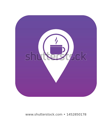 Cup Circular Vector Purple Web Icon Button Stock photo © rizwanali3d