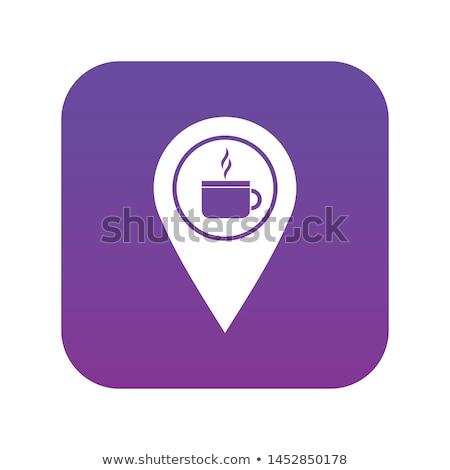 Кубок вектора Purple значок кнопки Сток-фото © rizwanali3d