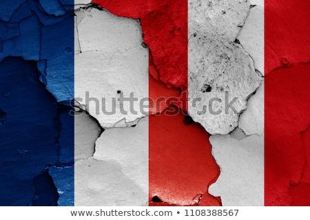 Fransa Peru bayraklar bilmece yalıtılmış beyaz Stok fotoğraf © Istanbul2009