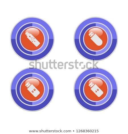 4g assinar azul vetor botão Foto stock © rizwanali3d