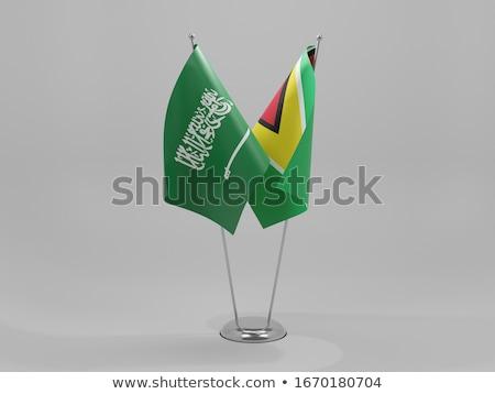 Stok fotoğraf: Suudi · Arabistan · Guyana · bayraklar · bilmece · yalıtılmış · beyaz