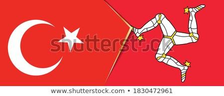 Turquia homem bandeiras quebra-cabeça isolado branco Foto stock © Istanbul2009