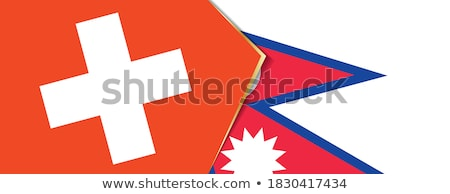 Switzerland and Nepal Flags Stock photo © Istanbul2009
