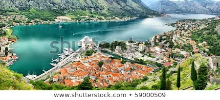 Bird eye view of buildings in Kotor old town, Montenegro Stock photo © vlad_star