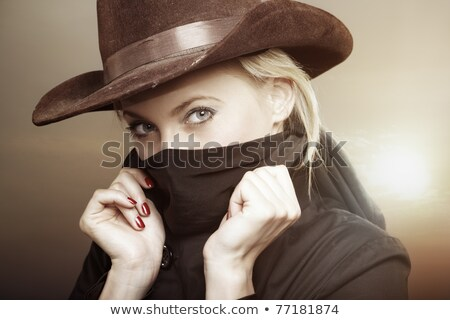 Attractive Blond with Cowboy Hat  Stock photo © feverpitch