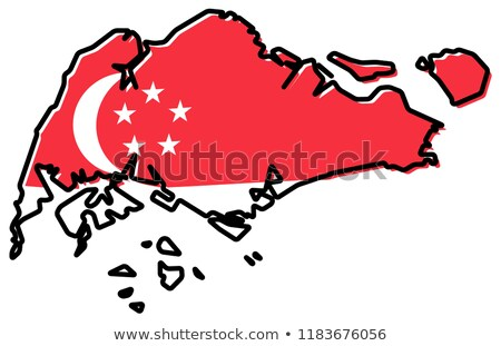 Bent icon with flag of singapore stock photo © MikhailMishchenko