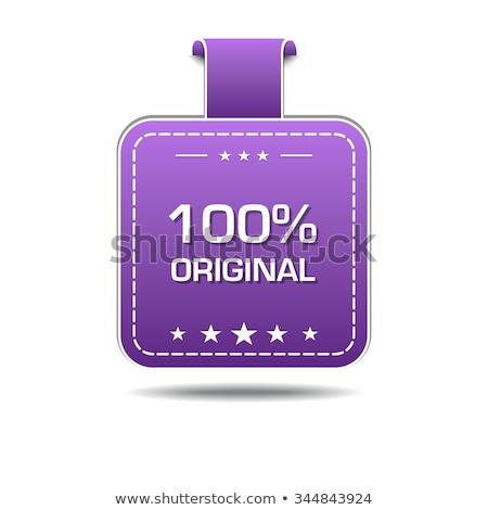 100 Percent Original Violet Vector Icon Design Stock photo © rizwanali3d