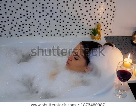 gyönyörű · nő · vörösbor · étterem · üzlet · nő · bár - stock fotó © wavebreak_media