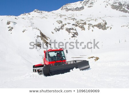 Snow-grooming machine or snowcat Stock photo © franky242