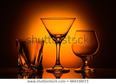 Tres gafas whisky vidrio fondo Foto stock © alex_l