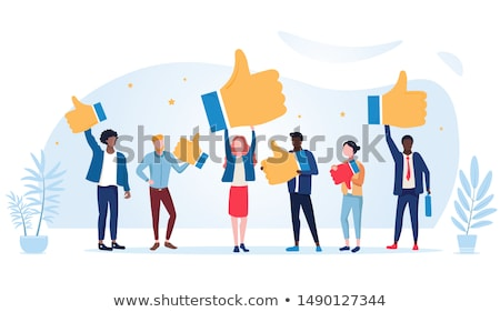 Réaction étude besoin affaires fond bleu Photo stock © racoolstudio
