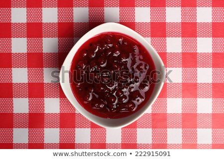vermelho · groselha · tigela · comida · fruto · vidro - foto stock © Digifoodstock