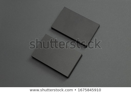 Blank Business Card Mockup on White Reflective Background Stock photo © Akhilesh