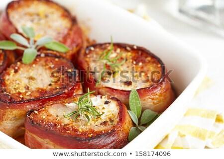 disznóhús · vesepecsenye · steak · filé · szeletek · főtt - stock fotó © digifoodstock
