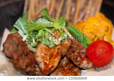 cerdo · picante · hierbas · chile - foto stock © digifoodstock