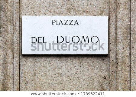 знак Милан Италия здании город архитектура Сток-фото © AndreyKr