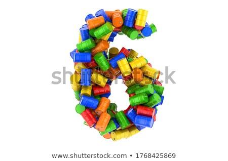 six colorful barrels stock photo © bluering