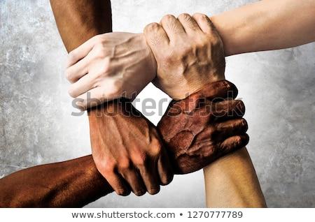Racisme wereldbol Stockfoto © devon