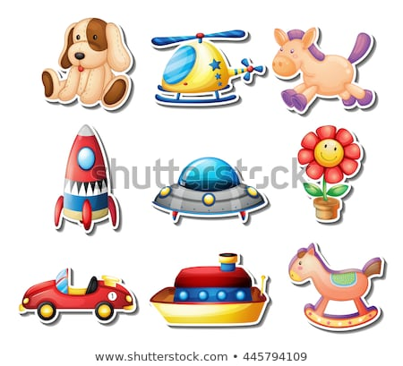 sticker set of many toys stock photo © bluering