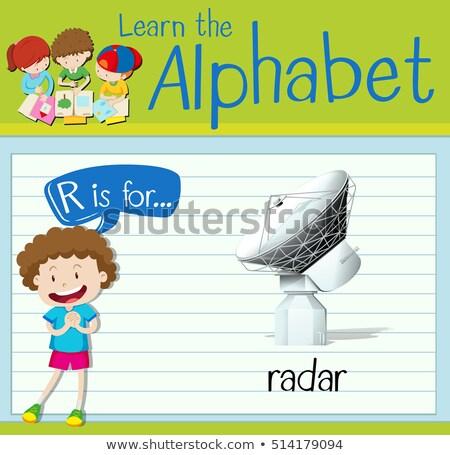 R betű radar illusztráció gyerekek gyermek technológia Stock fotó © bluering