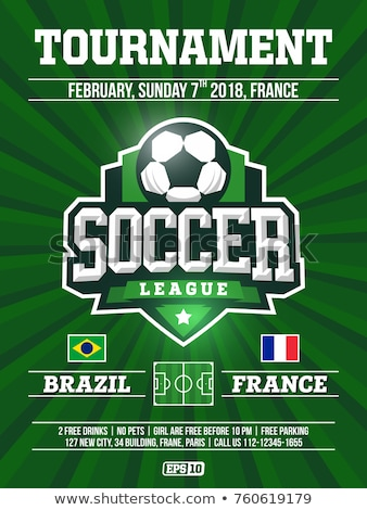 soccer league sports event flyer design Stock photo © SArts