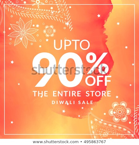 diwali sale and discount offer poster with paisley design in ora Stock photo © SArts