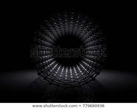 Illustratie koolstof structuur binnenkant 3d illustration Stockfoto © tussik