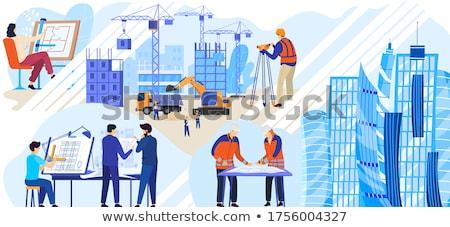 строительство крана рабочие работу прогресс строительная площадка Сток-фото © joyr