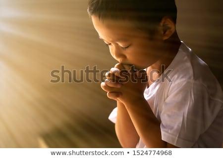 Jongen verdriet gezicht man school gelukkig Stockfoto © meinzahn