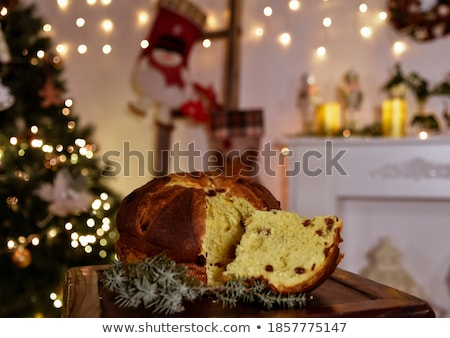 Italian panettone at Christmas Stock photo © adrenalina