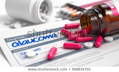 Diagnose glaucoma geneeskunde 3d illustration wazig tekst Stockfoto © tashatuvango