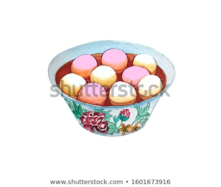 traditional chinese Tangyuan rice dessert Stock photo © TRIKONA