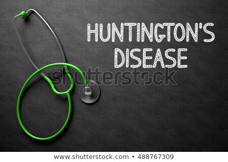 Chalkboard with Huntingtons Disease. 3D Illustration. Stock photo © tashatuvango