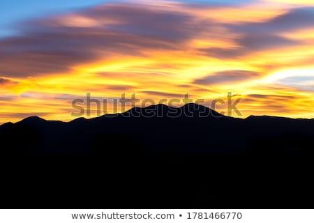 Montanhas nascer do sol deserto Novo México montanha silhueta Foto stock © Qingwa