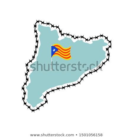 İspanya · harita · önemli · şehirler - stok fotoğraf © popaukropa