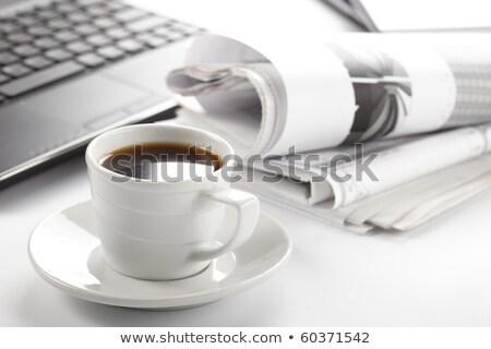 rendkívüli · hírek · felirat · számítógép · illusztráció · terv · fehér - stock fotó © tashatuvango