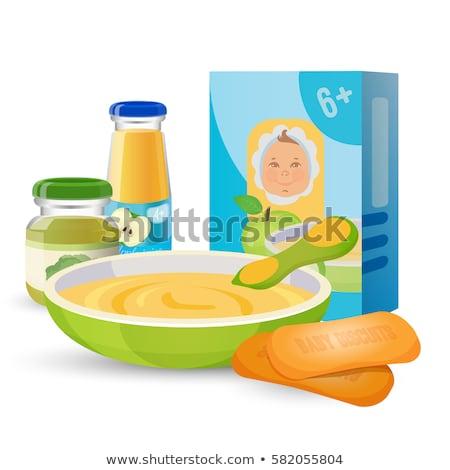 Reggeli szett gyümölcslé egészséges étel vektor étel Stock fotó © MaryValery