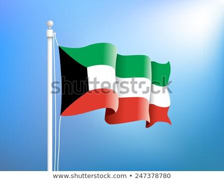 bandiera · Kuwait · texture · arte · segno · verde - foto d'archivio © rogistok