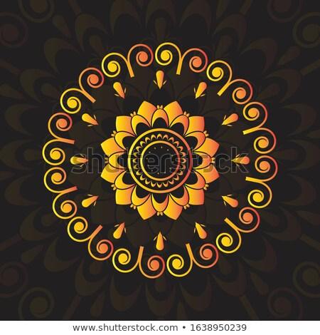 Klassz mandala dekoráció prémium absztrakt ázsiai Stock fotó © SArts