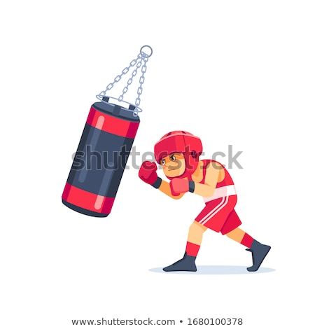 Big red punching bag vector cartoon illustration. Stock photo © RAStudio