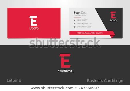 kreative · Visitenkarte · einfache · Design-Vorlage · Business · drucken - stock foto © studioworkstock