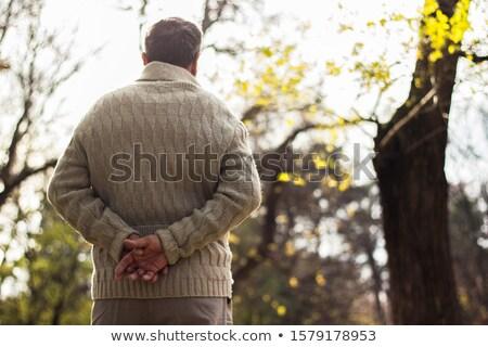Kıdemli adam erkek Stok fotoğraf © IS2