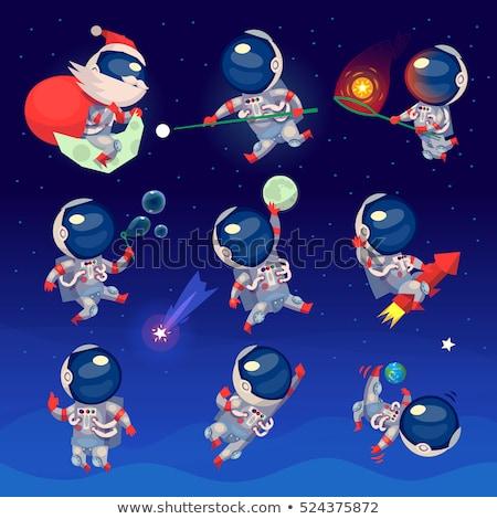 Astronaut playing football Mars Stock photo © studiostoks